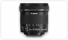 The Canon EF-S 10-18mm f/4.5-5.6 IS STM Lens is Compact & Lightweight