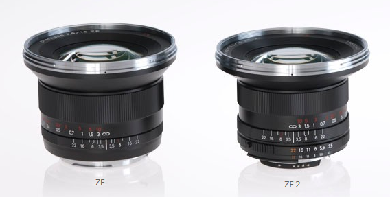 Distagon 18Mm F3 5 Ze And Zf 2 Mounts