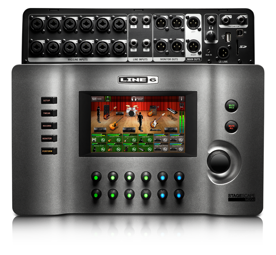 Line 6 StageScape M20d touchscreen edit mode to mix digital live sound product image